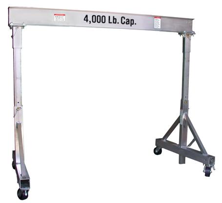 1,000, 2,000, 3,000 & 4,000 LB Cap. T Frame Gantry | EC & MW, Inc.