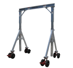 EC&MW Unique design uses column to beam braces for unparalleled strength, on all of their air tire gantry cranes.